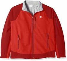 Champion Men's Performance Jacket 4XL Red Stretch Water Wind Resistant Duofold