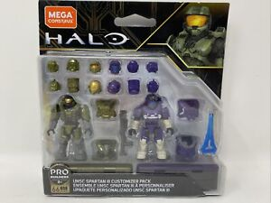 Mega Construx Halo UNSC Spartan lll Customizer Pack(GLB76) Pro Builders 8+ New
