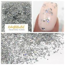 Amazing Holo Silver Glitter Mini Pieces |1 TSP  Holographic Acrylic Gel Nail Art