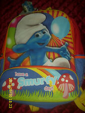 THE SMURFS BACK PACK  NEW WITH TAGS