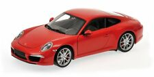 MINICHAMPS 2011 Porsche Carrera S (991) Red 1:18 *Nice Car & Color!