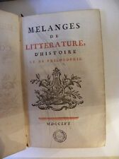1756 ANTIQUE LEATHER FRENCH BOOK-VOLTAIRE