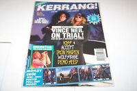 #433 KERRANG music magazine VINCE NEIL - KISS - ACCEPT