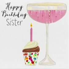 JANIE WILSON GREETING CARD: HAPPY BIRTHDAY SISTER  - NEW IN CELLO