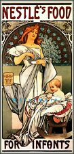 Nestles 1897 For Infants Food Vintage Poster Print Retro Style Mucha Art