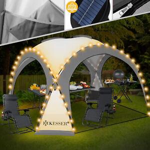 RETOURE Pavillon LED Event Partyzelt Solar Garten Gartenzelt Camping Pavilion