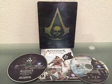ps3 ASSASSINS CREED IV 4 Black Flag Skull STEELBOOK Edition Playstation