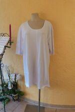 VERSION Shirt Kleid 48 50 (M+) weiß Stretch Baumwolle Details LAGENLOOK