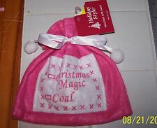 Pink FELT GIFT BAG Christmas Magic