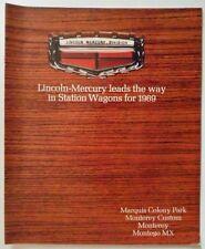Mercurio della Stazione vagoni ORIG 1969 USA Mkt opuscolo-Marquis Monterey Montego MX