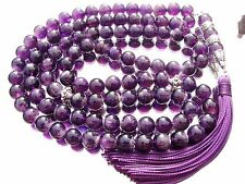 10mm x99 AMETHYST PRAYER BEADS ISLAMIC TASBIH MASBAHA QURAN GIFT