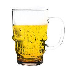 Cerveza de cristal en forma de calavera 3D Divertido Novedad Regalo de Cocina Pub Bebida bebida 700ML Nuevo