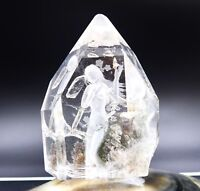 GORGEOUS EXOTIC AAAAA POLISHED & CARVED BRAZILIAN CRYSTAL QUARTZ WOMAN INSIDE