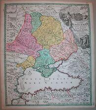 J.B.Homanno .Tabula Geographica Que Pars Russiae Magnae. 1720, Original!