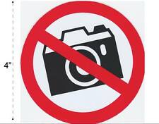 No Camera Vinyl Sticker Decal Warning Safety Sign Store Office Building Home