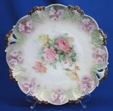 BEAUTIFUL RS PRUSSIA ROSES PLATE WREATH MARKED