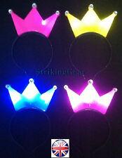 12 X LED Lightup Flashing Headband Hat Royal Crown Party 7 Colours Wholesale UK Purple