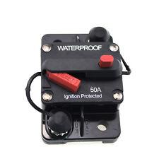 CIRCUIT BREAKER 50 AMP 12V 24V DUAL BATTERY WATERPROOF MANUAL RESET SWITCH IP67
