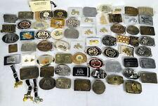Lot 63 Belt Buckles 925 Silver Dallas Cowboys, Tractor, Ford, John Deere, Farmer