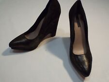 Bcbgmaxazria Leather glittered wedges shoes size 10 M new