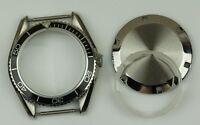 Planet ocean watch case homage stainless steel ETA 2824 black bezel cases parts