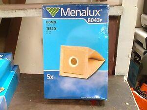 MENALUX 8043P VACUUM CLEANER BAGS -FOR DOMO/TESCO   - (R6)