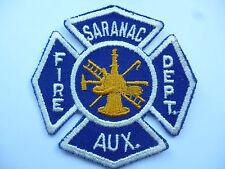 US FIRE BRIGADE PATCH  SARANAC  AUXILIARY.