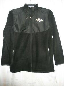 Baltimore Ravens Youth Full Zip Polar Fleece Jacket, Size Medium (10-12), NWT'S
