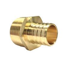 Libra Supply 1 inch, 1'' Lead Free PEX Copper Male Adapter, Barb x MIP, 10 pcs