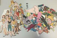 Vintage paper dolls and clothes huge Lot