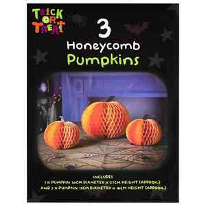 3Pcs Honeycomb Pumpkin Halloween Decoration Your Home At Halloween With This Set