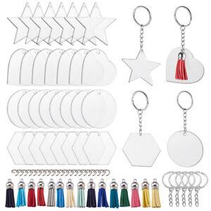 1 Set DIY Keychain Makings &Tassel Pendant &Keychain &Jump Ring & Blank Pendants