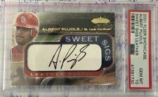 2001 Fleer Showcase Albert Pujols PSA 10 Sweet Sigs Leather autograph *pop 1* RC