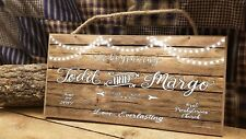 "Personalized Our Beginning Love Everlasting Rustic Wedding Lights 5"" x 10"" SIGN"