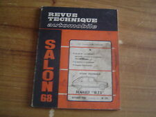 REVUE TECHNIQUE MECANIQUE RTA RENAULT 16 TS + SALON DE L'AUTOMOBILE 1968