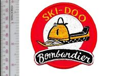 Snowmobile Ski-Doo Bombardier 1964 65 Promo Valcourt, QC Patch Medium Gold sm