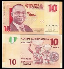 Nigeria P33d 10 Naira, Educator Alvan Ikoku / Women balancing jugs on heads UNC