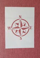 2283 Kompass Vintage Stanzschablone Textilgestaltung Wandbild Airbrush Stencil