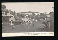West Africa Sierra Leone FREETOWN Percival St pre1919 PPC local pub Lisk-Carew