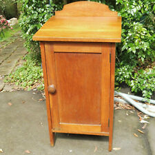 Antique Solid English Oak Pot Cupboard/Bedside Table 1920's Lovely Condition