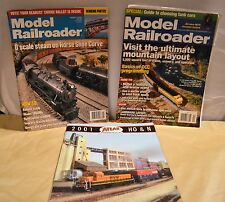 Assorted Model Train Magazine Back Issues 2000, 2001 2008 Hobby Literature Books