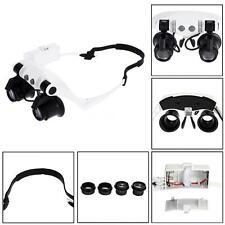 Head Wearing Magnifying Glass 10x 15x 20x 25x Double Eye Magnifier Loupe R7X4