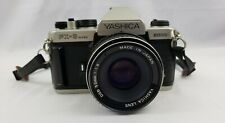 Vintage Silver Yashica FX-3 Super 2000 35mm Japan SLR Film Camera w 50mm Lens