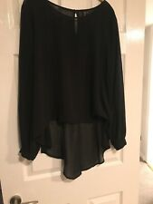 Zuppe Black Long Sleeve Top Large Size
