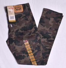 Levis 510 Boy's Slim Leg Skinny Fit Camo Pants Size 12  26 x 26