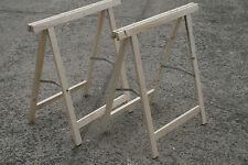 2 Stück Klappbock Holz natur 75 x 75 cm Werkstatt Bock klappbar -UNIVERSAL