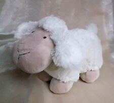 Tierfiguren Schafe 2erSet sitzend liegend bis  12 cm h Karoschleife Glöckchen