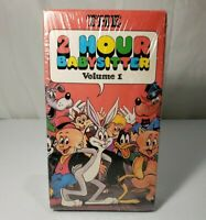 Vintage  Looney Tunes 2 Hour Babysitter Vol 1 VHS New Sealed 1990 Ultra Rare!