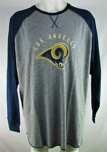 Los Angeles Rams NFL Majestic Men's Heather Grey Hyper Raglan Shirt
