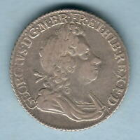 Great Britain. 1723 SSC - George 1 Shilling..   VF - Trace Lustre